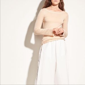 Vince Fitted V Back Cashmere Top Size XS